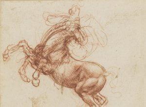 Leonardo da Vinci, A rearing horse, c.1503-4, Royal Collection Trust/© Her Majesty Queen Elizabeth II 2018